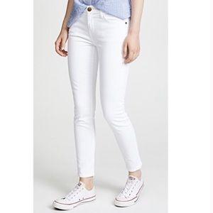 Current Elliott Stiletto Sugar White Skinny Jeans